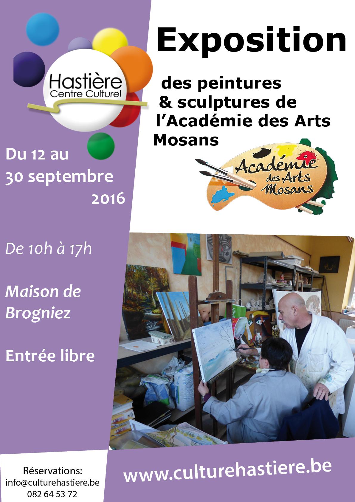 Exposition de l'Académie des Arts Mosans @ Maison S. de Brogniez