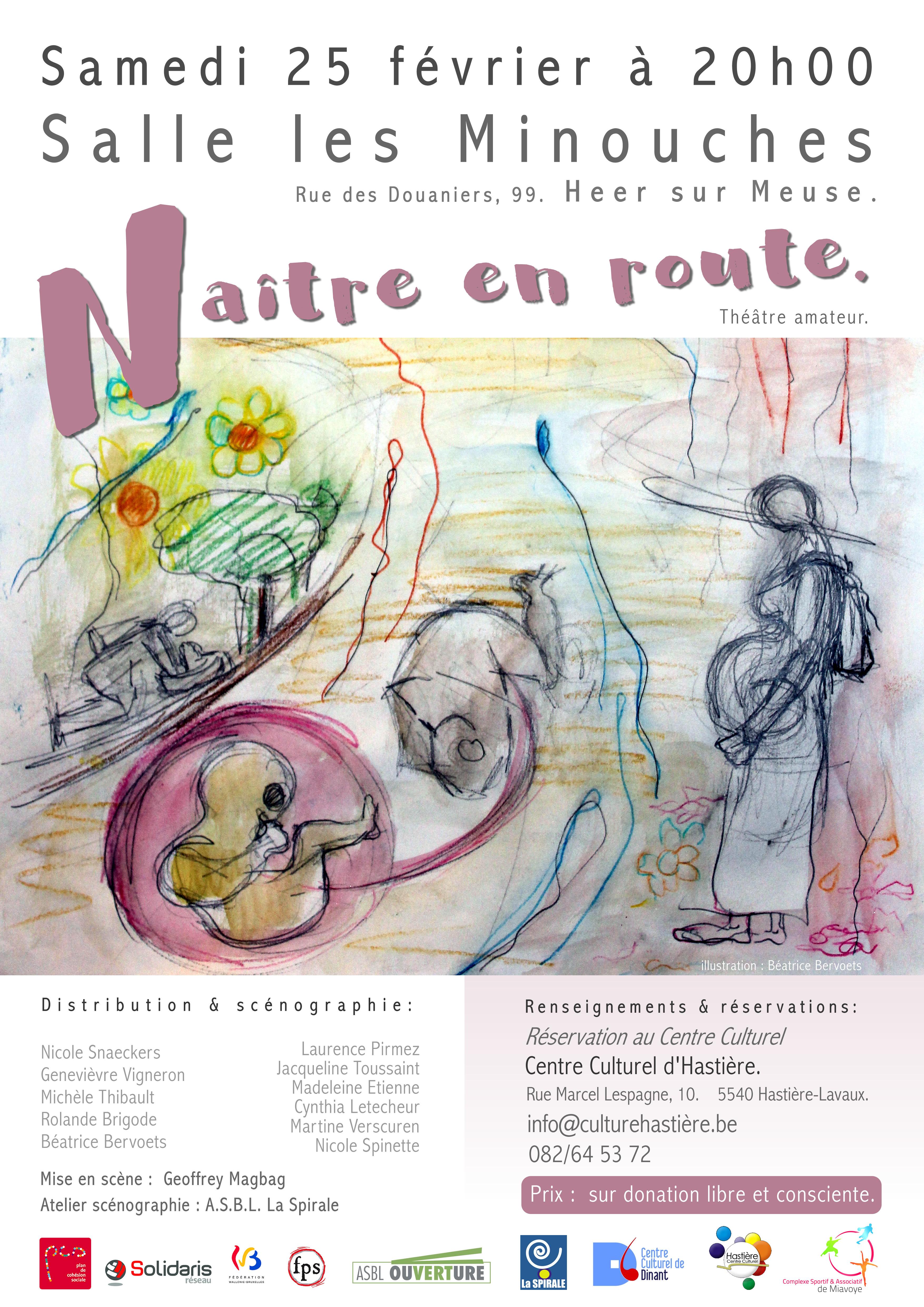 """""""Naître en route"""" - Théâtre amateur @ Salle """"Les Minouches"""" à Heer"""