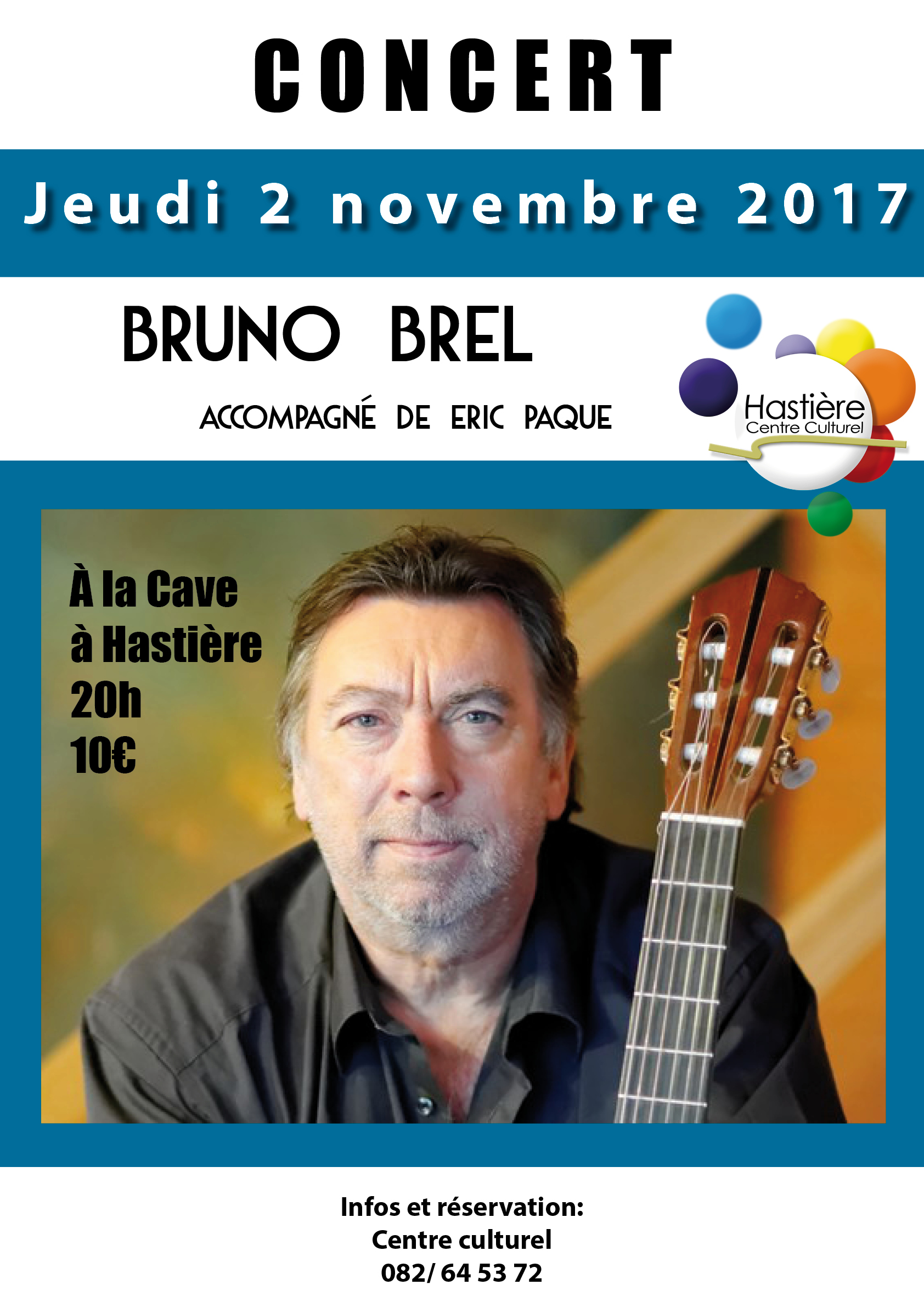 Concert de Bruno Brel @ La Cave à Hastière